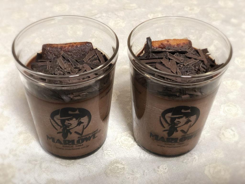 マーロウ ケーキ入りベルギーチョコレートプリン