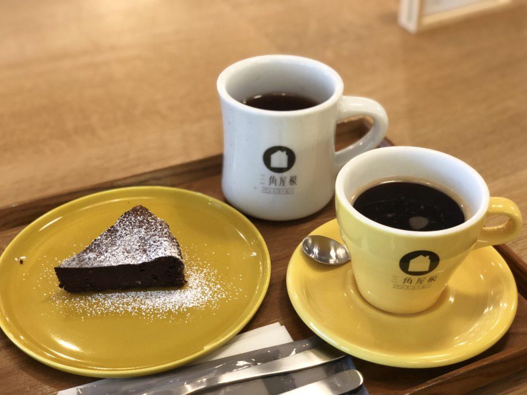 葉山 三角屋根 パンとコーヒー ガトーショコラ